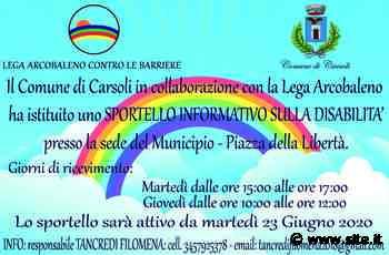 Carsoli – Apre lo Sportello Informativo sulla Disabilità - Site.it