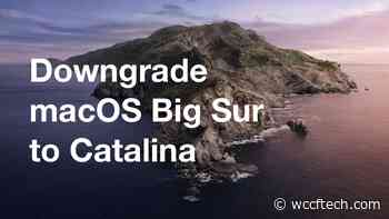 Downgrade macOS Big Sur Beta to macOS Catalina [How to] - Wccftech