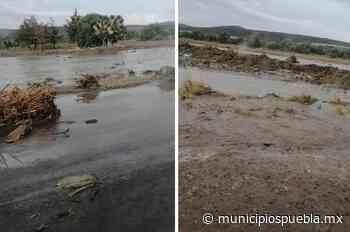 Por tromba cierran la Acatzingo-Perote y la Palmar de Bravo-Cañada - Municipios Puebla
