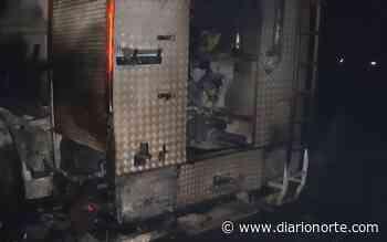 Infierno en El Palmar: dos bomberos internados y una motobomba quemada - Diario NORTE