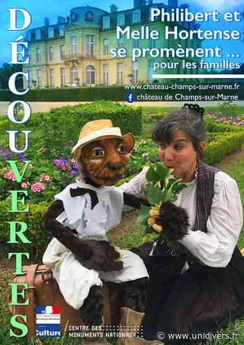 Philibert et Melle Hortense se promènent… Château de Champs-sur-Marne dimanche 12 juillet 2020 - Unidivers