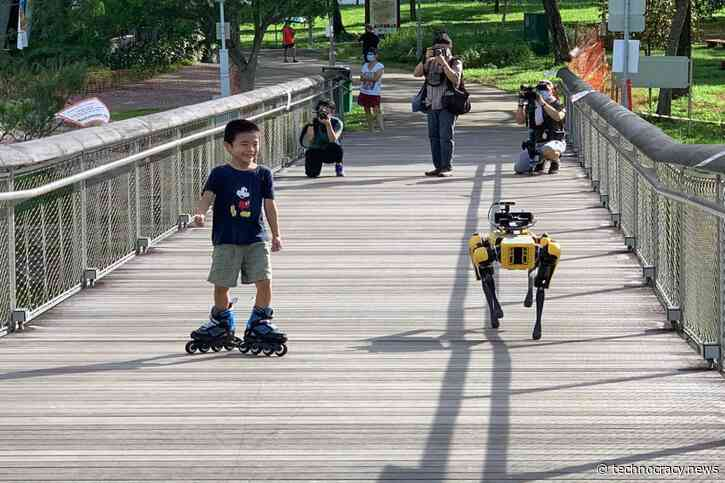 Police Robots Are Being Used For Social Distancing Control