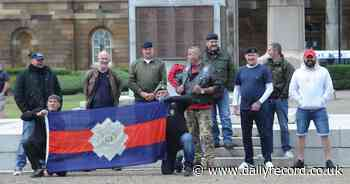 Loyalist activists turned out to 'protect' Ayr's war memorial - Daily Record