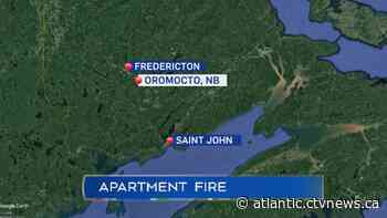 Fire displaces more than 40 people from Oromocto apartment building - CTV News