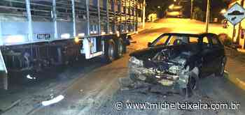 Colisão entre carro e caminhão resulta em danos materiais, em Ipira - Michel Teixeira