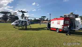 Idoso de 81 anos é levado de helicóptero de Terra Roxa para Toledo - CGN
