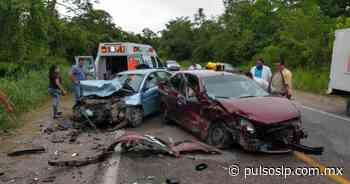 Aparatoso accidente en la carretera Valles-Tamazunchale; un muerto y tres heridos - Pulso de San Luis