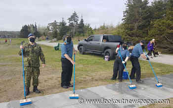 HMCS Halifax visits Bonaventure Memorial for spring cleanup - Victoria Lookout