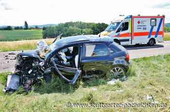 Unfall bei Schwaikheim - Zwei Schwerverletzte bei Frontalzusammenstoß - Stuttgarter Nachrichten