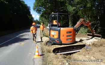 Claix (16) : les travaux de la RD7 sont bien en route - Sud Ouest