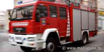 Wildau: Feuer am Bahnübergang - Märkische Allgemeine Zeitung