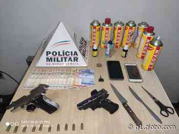 Três são detidos após denúncia de festa com 50 pessoas em Curvelo; havia armas e drogas no local - G1