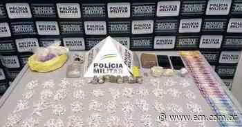 Mais de 1.200 pedras de crack são apreendidas em Papagaios - Estado de Minas