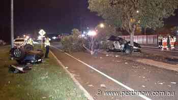 Man survives horror crash that split car in two on Welshpool Road - PerthNow