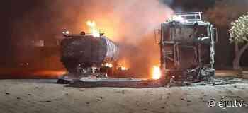 Dos carros cisternas ardieron en Pailón – eju.tv - eju.tv