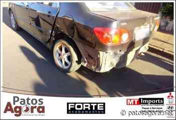 Condutor avança parada obrigatória e provoca acidente no Bairro Novo Horizonte - Patos Agora