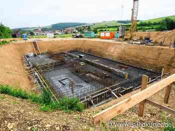 Geisingen: Die Bodenplatte steht schon – Das neue Wasserwerk in Aulfingen wird voraussichtlich im Juli 2021 fertig - SÜDKURIER Online