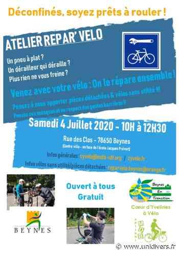 Répar'Vélo à Beynes Atelier Répar'Vélo à Beynes samedi 4 juillet 2020 - Unidivers