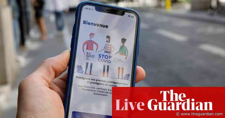 Coronavirus live news: France says 460,000 people have deleted contact-tracing app after just 1.8m installed it