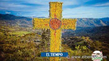 Con grandes figuras de fruta, Anolaima celebra Corpus Christi virtual - El Tiempo