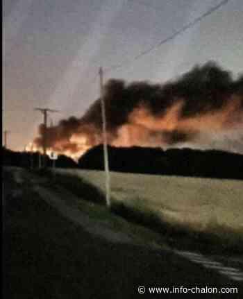 Au SMET de Chagny, les déchets ont brulé jusque tard cette nuit - Info-chalon.com
