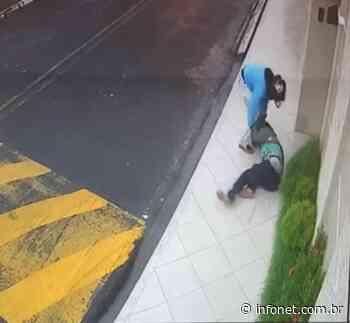 Vídeo mostra mulher sendo agredida durante assalto em Itabaianinha - Infonet