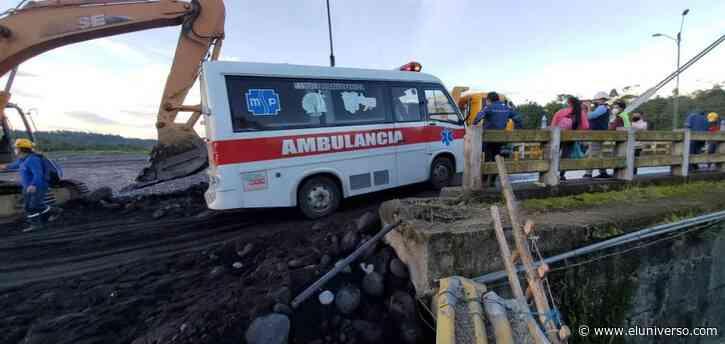 Se habilitó un carril de la vía Macas - Puyo que colapsó por la creciente del río Upano - El Universo