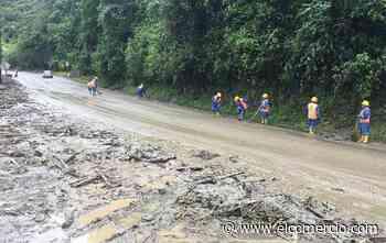 La vía Baños-Puyo está cerrada por un deslizamiento en Agoyán - El Comercio (Ecuador)