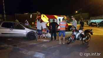 Fiat Strada e moto colidem na Rua da Lapa e mulher de 22 anos fica ferida - CGN