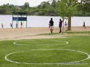 Gatineau draws circles to encourage distancing at Parc des Cèdres - Ottawa Citizen