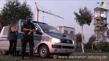 Großeinsatz in Alsdorf: Polizei und Stadt setzen ein Zeichen am Annapark - Aachener Zeitung
