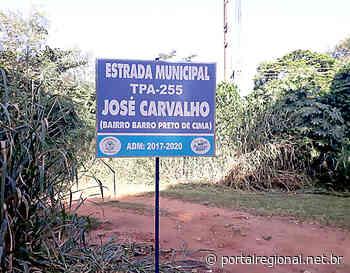 Em Tupi Paulista, placas são instaladas na área rural - Portal Regional Dracena