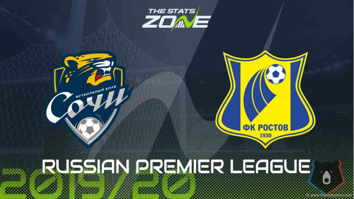 2019-20 Russian Premier League – Sochi vs Rostov Preview & Prediction - The Stats Zone