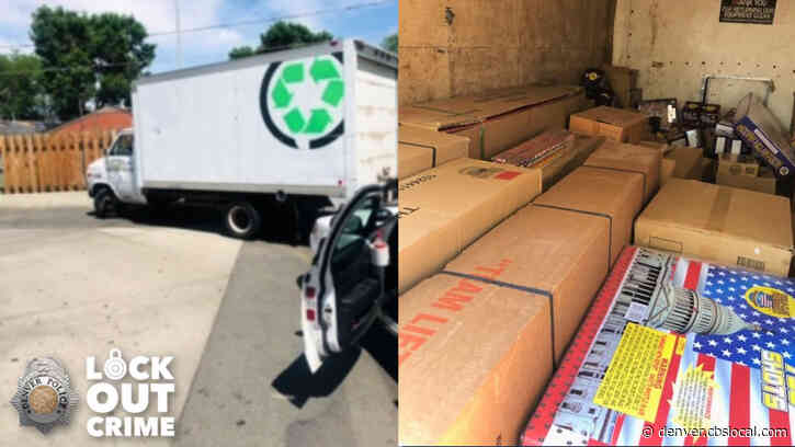 Denver Police Seize Truck Filled With Over 2,000 Pounds Of Illegal Fireworks
