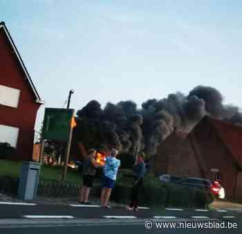 Grote brand vernielt werkplaats en magazijn bij Gebo in Dessel