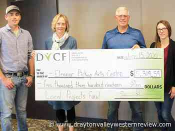 Drayton Valley Community Foundation donates cheque to EPAC - Drayton Valley Western Review