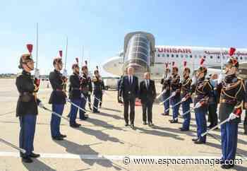 Kaïs Saïed accueilli au Paris-Le Bourget par le ministre français des Affaires étrangères - Espace Manager