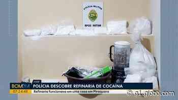 Polícia descobre refinaria de cocaína nos fundos de casa, em Piraquara - G1