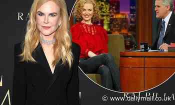 How Nicole Kidman tricked Jay Leno into using a rude Australian slang term - Daily Mail