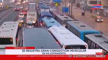 Santa Anita: regresó el caos vehicular a la vía de Evitamiento - exitosanoticias