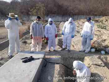 Van 105 inhumaciones en área Covid del panteón El Palmar - Enfoque Informativo