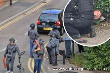 In pictures: Three arrested in armed raid in Morden - Your Local Guardian