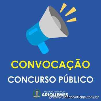 Prefeitura de Ariquemes chama 12 aprovados do concurso de 2016   EMPREGO - Rondo Notícias