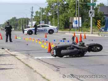 Motorcyclist dead near Joliette after colliding with car - Montreal Gazette