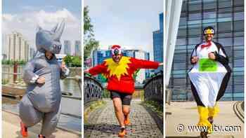 Salford teacher running 45 marathons in full animal costumes for Chester Zoo - ITV News