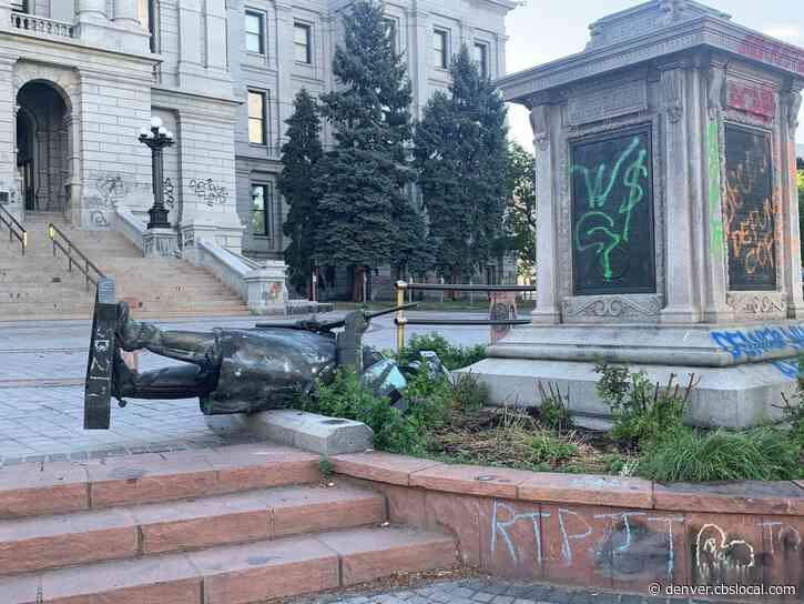 Civil War Statue In Front Of Colorado State Capitol Pulled Down