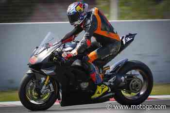 Miller accompagna Rins al Circuit de Barcelona