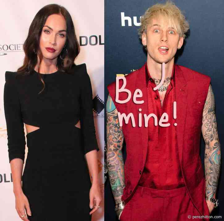 Megan Fox & Machine Gun Kelly Opt For Matching Bloody Valentine Manicures After Making Their Relationship Public!