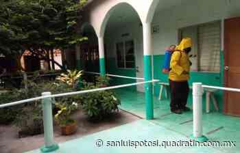 Alcaldía de Tamazunchale desinfecta Hogar para Ancianos - Noticias de San Luis Potosí - Quadratín San Luis