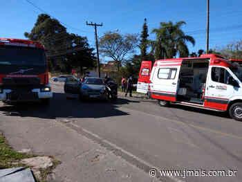 Condutor fica ferido em acidente no bairro Tricolin em Canoinhas - JMais